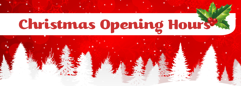 **Christmas Opening Hours**